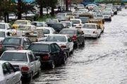 وضعیت ترافیک پایتخت با توجه به وقوع بارشها
