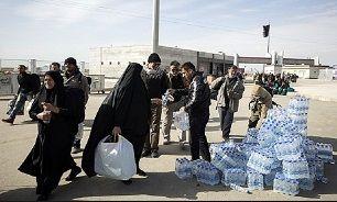 توزیع ۱۵۰ هزار بسته آب میان زائران اربعین