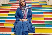 شبنم مقدمی در کنار قبر حافظ شیرازی+ عکس