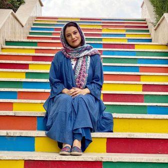 شبنم مقدمی در نمایشگاه عکس پیام ایرانی