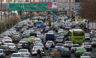 وضعیت ترافیکی معابر پایتخت در روز پانزدهم مردادماه