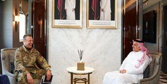 دیدار فرمانده نیروی هوایی آمریکا در خاورمیانه با وزیر دفاع قطر