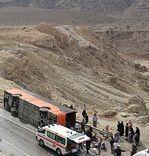 واژگونی یک دستگاه اتوبوس با۲۲ کشته و مجروح