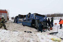 ۷ کشته بر اثر واژگونی اتوبوس