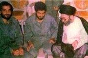 تصویری کمتر دیده شده از رهبری در کنار شهید باکری و حاج قاسم