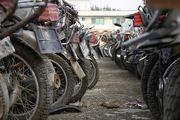 پارکینگ موتور سیکلت ها /گزارش تصویری