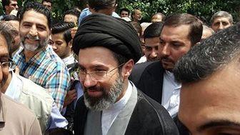 فرزند رهبرانقلاب در راهپیمایی ۲۲ بهمن+عکس