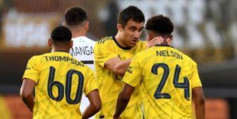 پیروزی آرسنال مقابل آنژه فرانسه