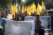 وعده انتقام نُجَباء در یادبود شهدای حشد شعبی/ گزارش تصویری