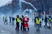 سرکوب معترضان ضد دولتی در پاریس با گاز اشکآور