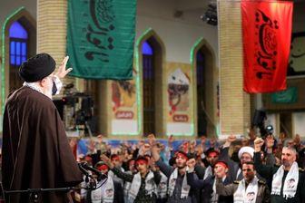 دیدار راهیان نور با رهبر انقلاب/ عکس