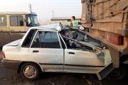 لایی کشیدن راننده پراید جانش را گرفت