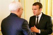دیدار ظریف با رئیس جمهور فرانسه