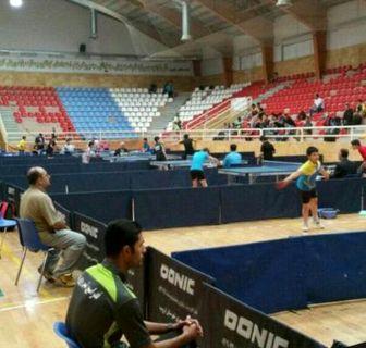 تنیسور نوجوان تهرانی قهرمان مسابقات تنیس روی میز آزاد و دسته یک کشور شد
