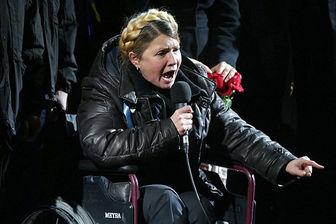 خیز تیموشنکو برای ریاست جمهوری با ویلچر