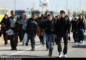 موج بازگشت زائران اربعین حسینی (ع) شدت گرفت