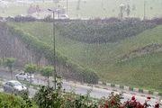 بارش برف و باران در جادههای ۸ استان کشور