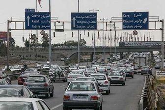 ترافیک پرحجم در ورودی های تهران