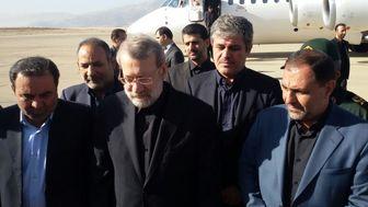 ورود رئیس مجلس شورای اسلامی به یاسوج