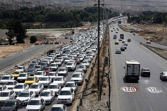 ترافیک در محور کندوان و هراز سنگین است