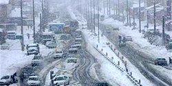بارش برف و باران در ۱۳ استان