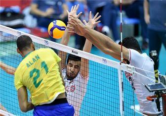 جام جهانی والیبال/ شکست ایران مقابل برزیل