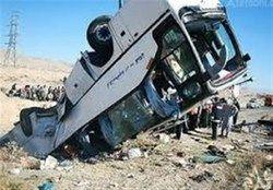 آخرین جزئیات واژگونی اتوبوس در گرمسار