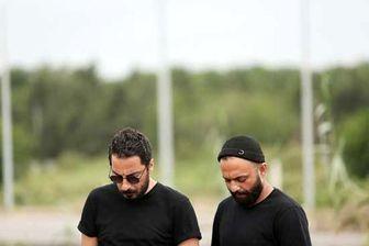 چهره درهم نوید محمد زاده و صابر ابر روی پوستر «قورباغه»/ عکس