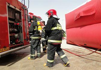سوختگی شدید ۳ نفر در میان زبانههای آتش