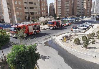 نجات ۳۰ نفر پس از آتشسوزی در برج ۲۱ طبقه
