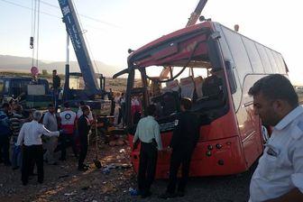 علت واژگونی اتوبوس دانش آموزان اعلام شد