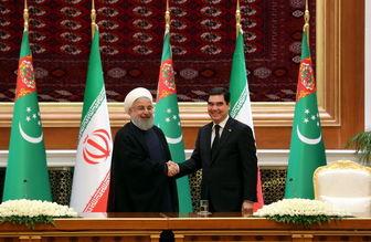 بیانیه مشترک روحانی و رئیس جمهور ترکمنستان/ تاکید بر گسترش روابط