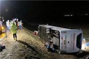 31 مصدوم و کشته در پی واژگونی اتوبوس