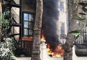 آتش سوزی در نزدیکی سفارت عربستان در لندن