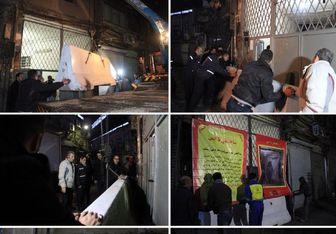 پلمب یک مرکز تجاری در بازار تهران