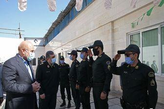 بازدید رئیس قوه مقننه از یگان ویژه نیروی انتظامی شهید مدرس