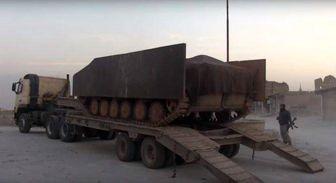 انهدام نفربر انتحاری القاعده توسط ارتش سوریه+تصایور