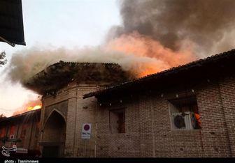 واکنش مردم به آتش سوزی در مسجد جامع ساری