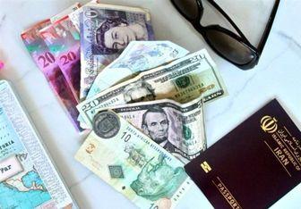 قیمت ارز مسافرتی در 15 آبان 97