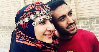 پسر و عروس فاطمه گودرزی در دل طبیعت /عکس
