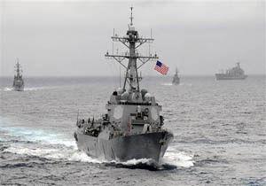 عبور دو فروند کشتی نیروی دریایی آمریکا از تنگه تایوان