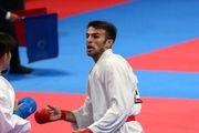 برنز عسگری از پیکارهای کاراته قهرمانی آسیا