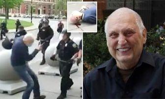 تهدید پیرمردی که مورد حمله پلیس آمریکا قرار گرفت