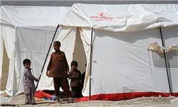 ۶۷۰۰ زلزلهزده سراوانی در چادر اسکان داده شدند