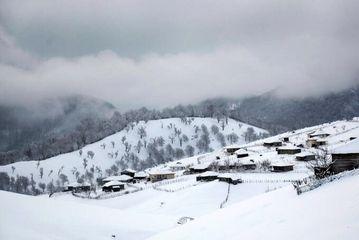 طبیعت زمستانی زیبای اسالم/ گزارش تصویری