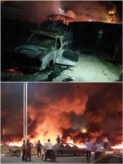تصادف مرگبار تانکر سوخت با اتوبوس در سنندج