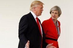 ترزا می: سفر ترامپ به انگلیس مایه بهبود روابط است