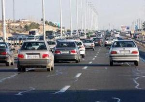 ترافیک نیمه سنگین در آزاد راه کرج - تهران