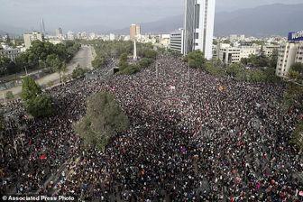 ادامه اعتراضات در شیلی و درگیری مجدد معترضان با پلیس