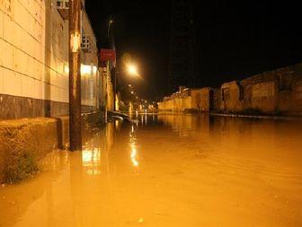 آبگرفتگی معابر و خیابان های شادگان بعد از بارندگی